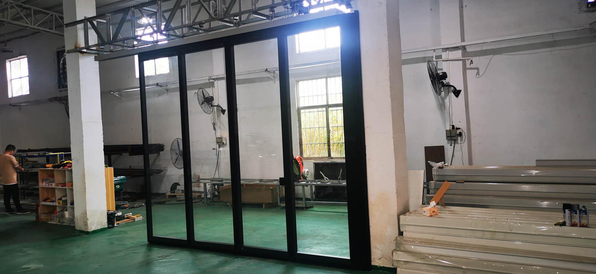 90型玻璃活动隔断(极窄)